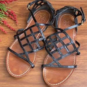 Pre-loved Tory Burch black sandals size 7
